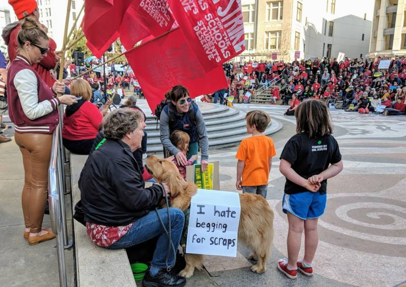 Oakland teachers are asking for a wage increase and smaller class sizes in the latest contract negotiations with the district.