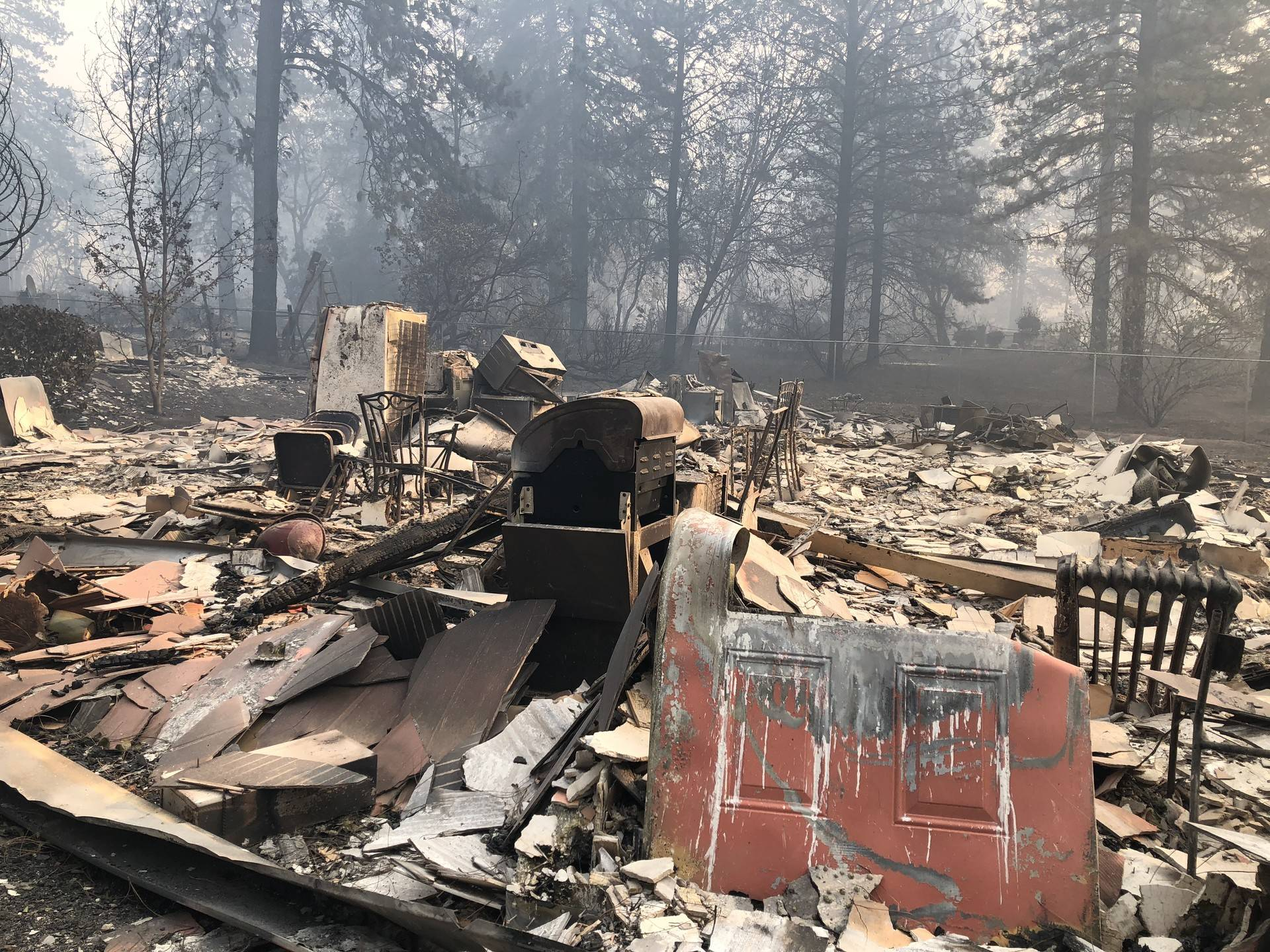 Thousands of buildings, like this apartment building in Paradise, burned to the ground in the Camp Fire. Sonja Hutson/KQED