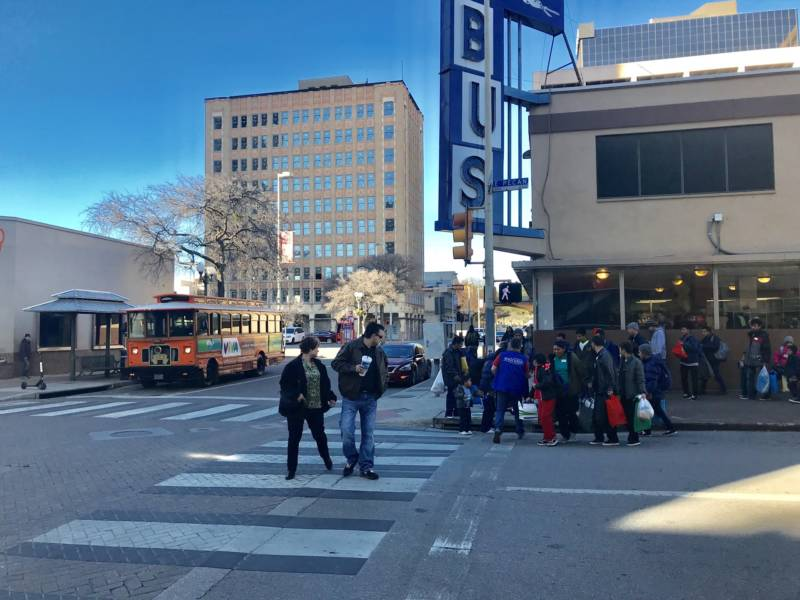 Asylum seeking families take Greyhound buses to family and sponsor across the country.