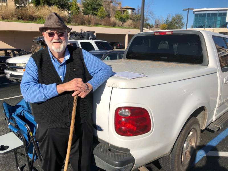 "81 year-old Horace Crawford volunteers at Trinity Center in Walnut Creek. The retired architectural engineer considers himself and his Ford truck ""on call to help anybody who needs to get someplace, or to move something, or to get some part time day work."""
