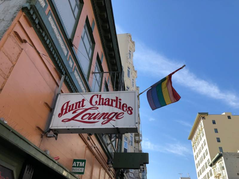 Aunt Charlie's, one of the few remaining LGBTQ drinking spots in the Tenderloin.
