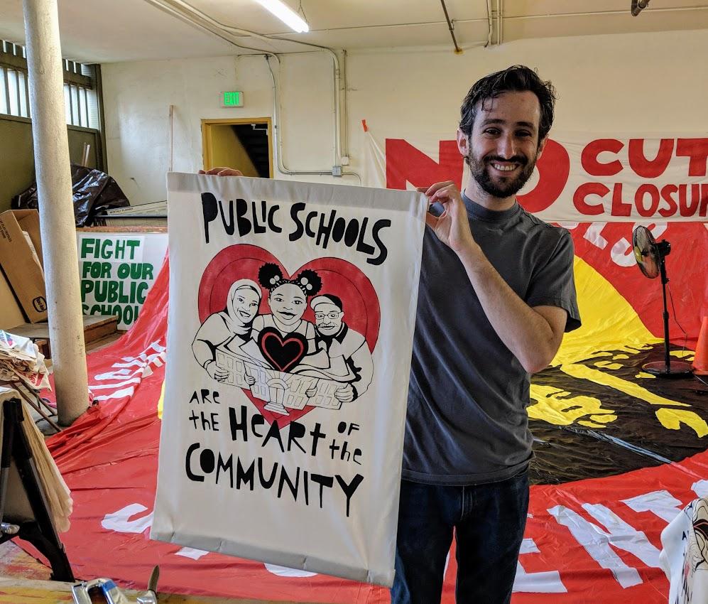 PHOTOS: Oakland Teachers Paint, Prepare to Vote on Strike