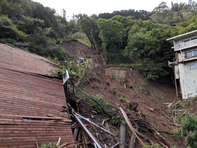 Sausalito Declares Local Emergency After Mudslide