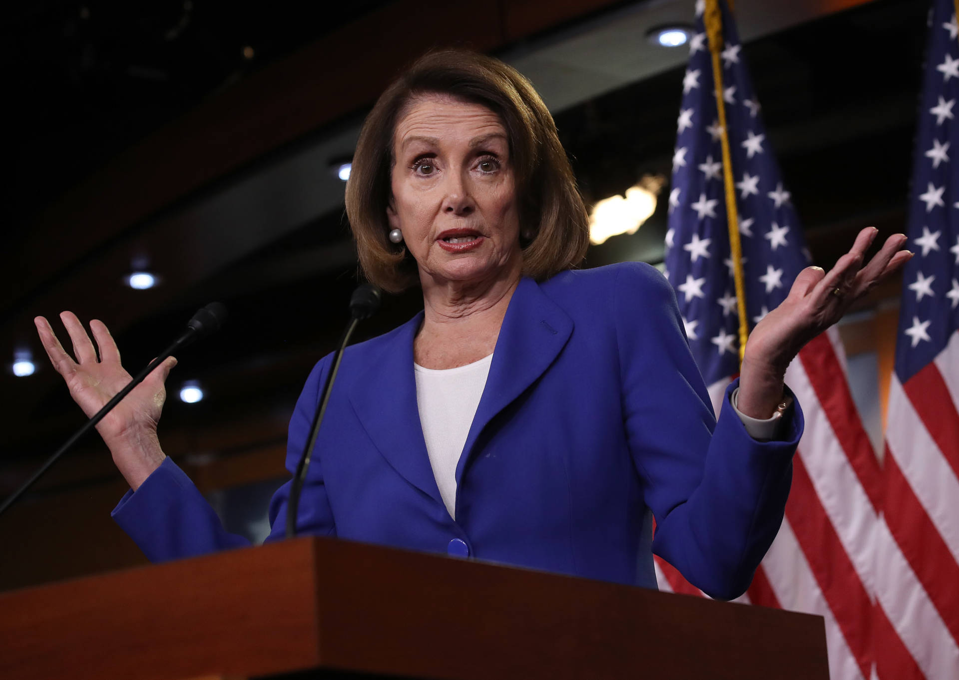 U.S. Speaker of the House Nancy Pelosi answers questions during her weekly press conference on Jan. 31, 2019, in Washington, D.C.  Win McNamee/Getty Images