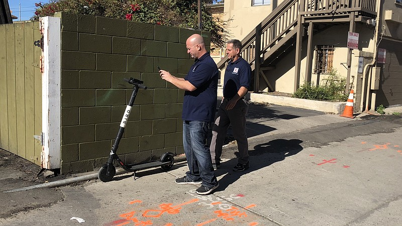 Company Goes After Dockless Scooters Left on Private Property