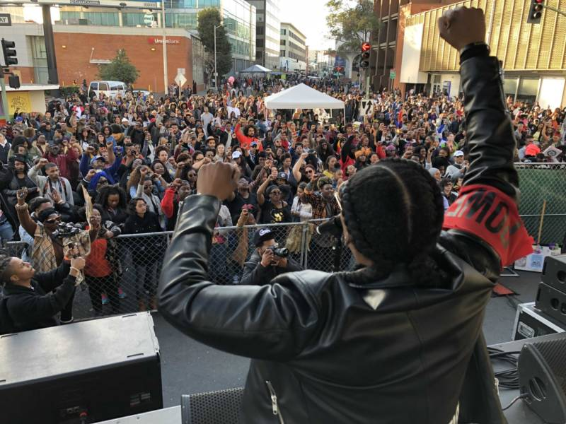 The Black Joy Parade, a celebration of black culture and community, kicked off in downtown Oakland on Sunday.