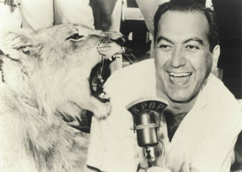 Laboe pioneered live broadcast events, talking to listeners from drive-ins and concert halls, and sometimes even pulling stunts like trying to get a lion to roar into his microphone.