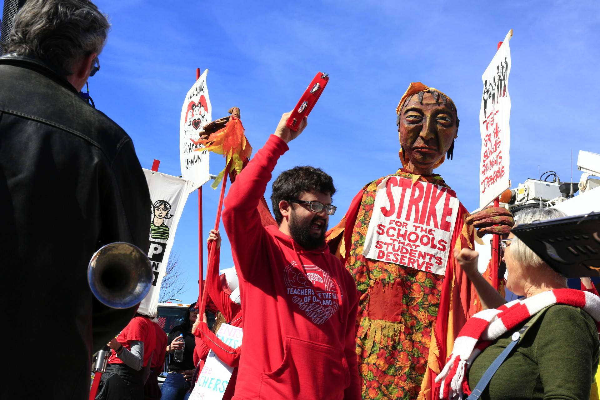 Rally and March for the Oakland Teacher's Strike in DeFremery Park, West Oakland February 22, 2019. Stephanie Lister/KQED