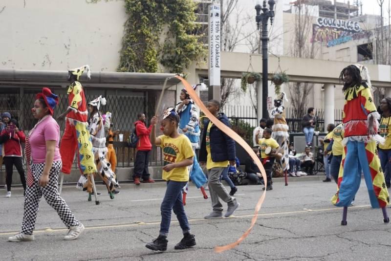 Members of the Prescott Circus School walk in the Black Joy Parade.