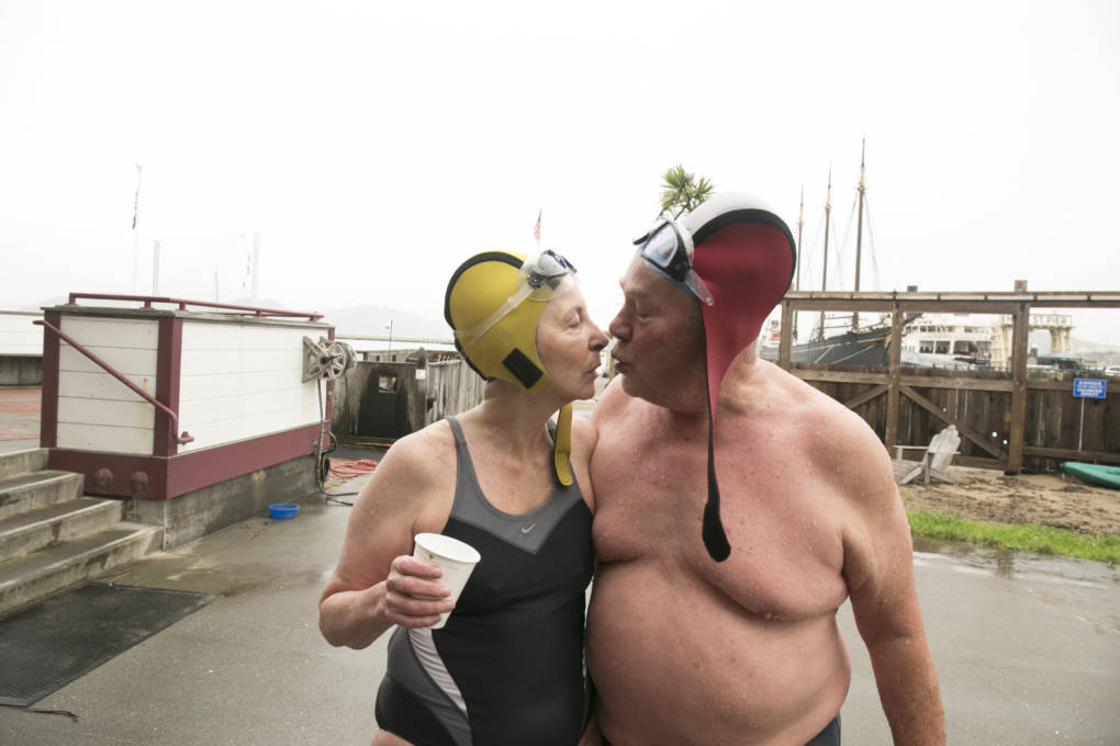 This Couple's Wild Calls Display Passion for Swimming, Safety — and Each Other
