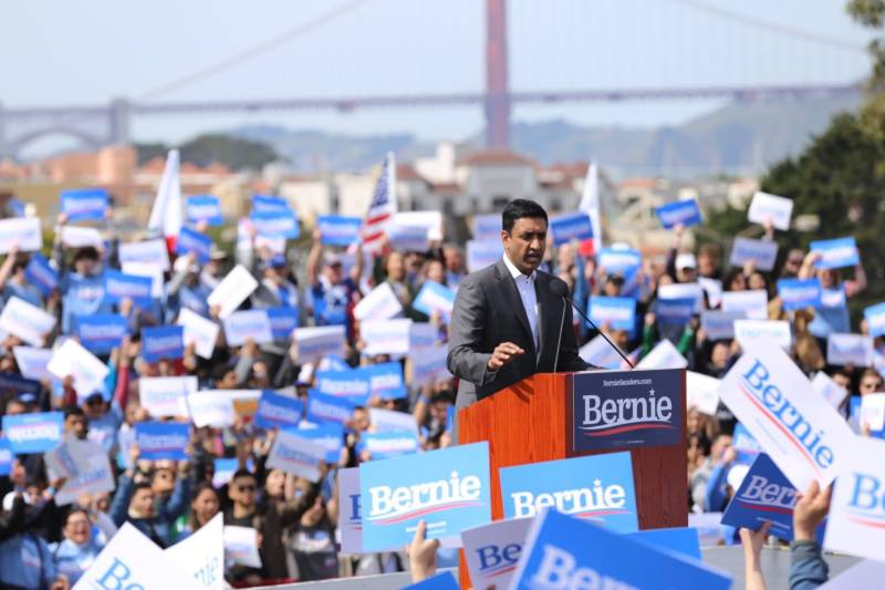Rep. Ro Khanna, D-Fremont, says Sanders' campaign is 'about freedom, it's about dignity, and it's about 21st century patriotism.' Khanna is a top adviser for Sanders' presidential campaign.