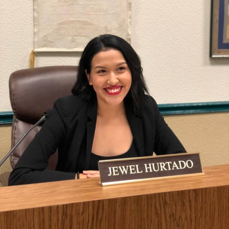 Jewel Hurtado, photographed during the evening she was sworn in as a Kingsburg City councilwoman in December 2018.