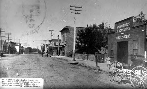 Mayfield's Main Street in 1902.
