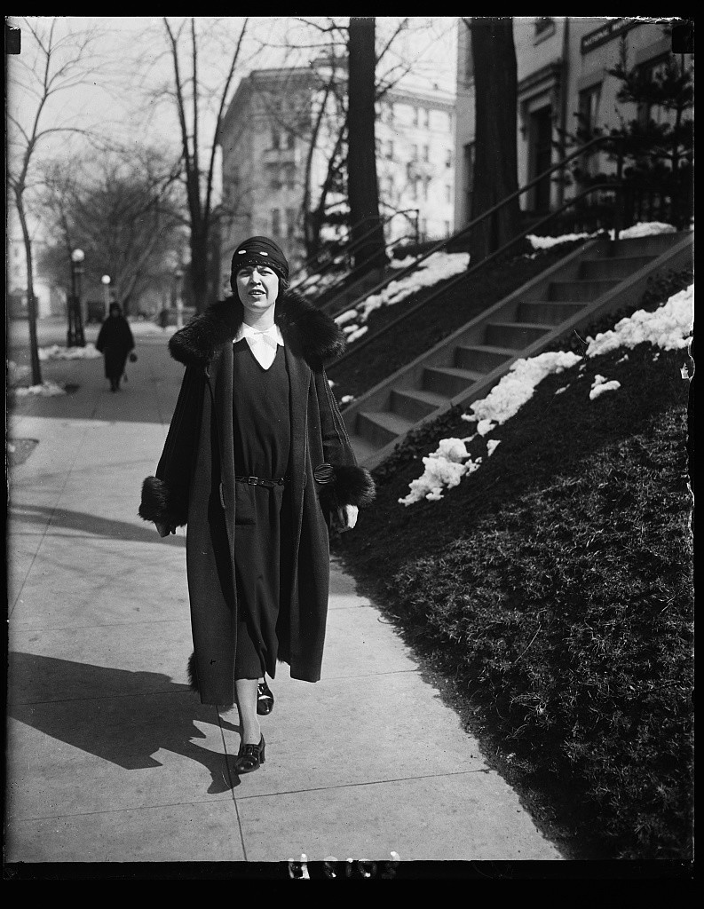 Myrtle Cain, of Minnesota and the youngest woman legislator in the country, was in Washington D.C. to secure pledges from progressives in Congress to vote for the Equal Rights Amendment in 1924.