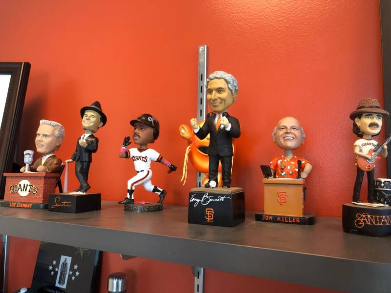 Some of the many bobbleheads the Giants have produced since 1999 include musical legends Tony Bennett, Frank Sinatra and Carlos Santana.