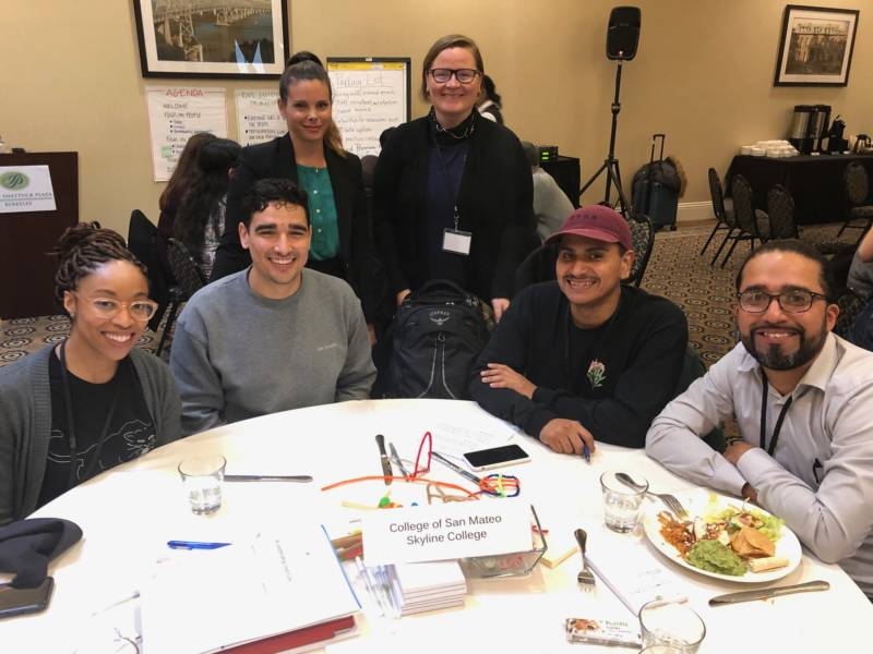 Project Change students and administrators attend a conference at Stanford University on community college programs for formerly incarcerated students.