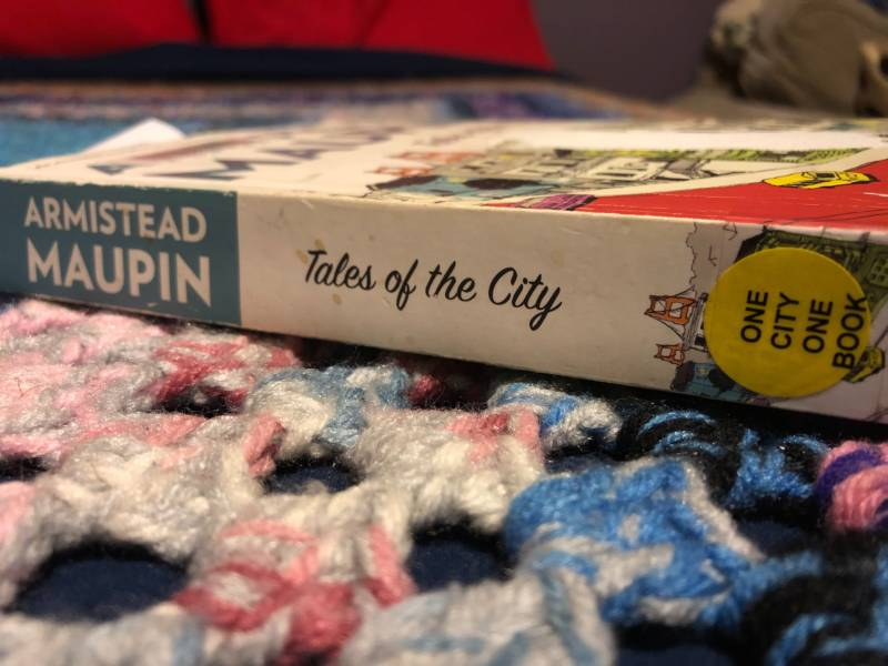 A well-worn copy of Armistead Maupin's 'Tales of the City.' It was the San Francisco Public Library's One City One Book pick in 2014.
