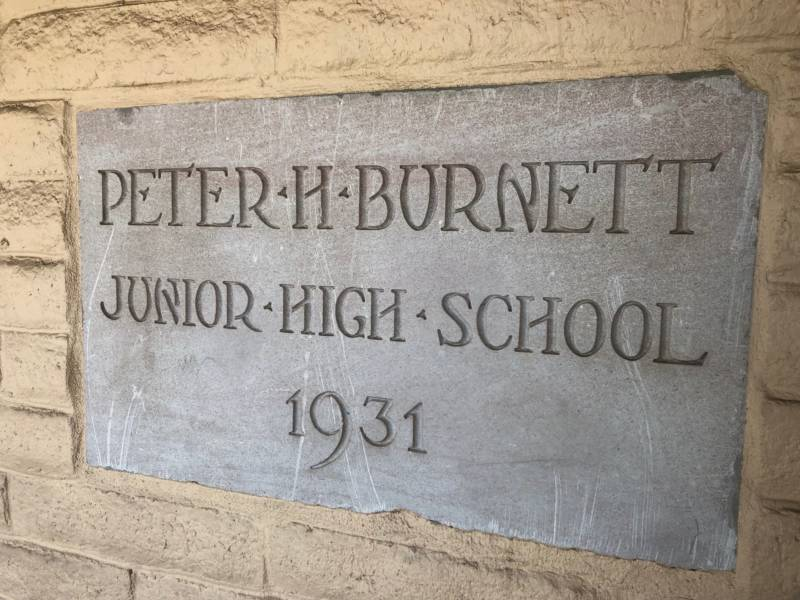 Students, staff and administrators say Burnett and his racist views don't align with the values of the school today.