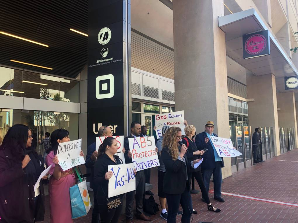 Uber and Lyft Drivers Denounce Companies' Campaign to Keep Them Contractors