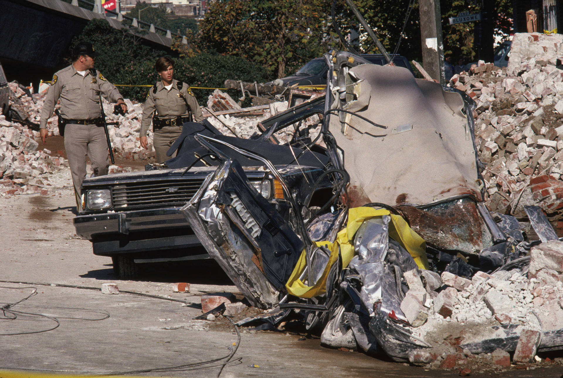 The Loma Prieta earthquake on Oct. 17, 1989, helped give a modern boost to the ancient myth of 'earthquake weather.' Otto Greule Jr./Getty Images