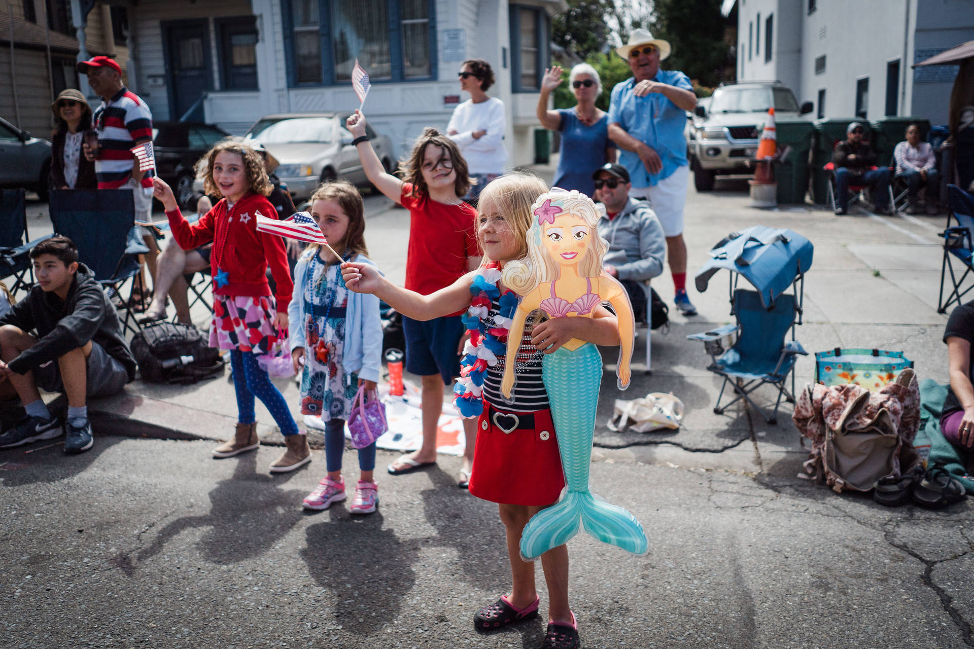 Children at the 2018 Alameda Fourth of July Parade. Maurice Ramirez Photography