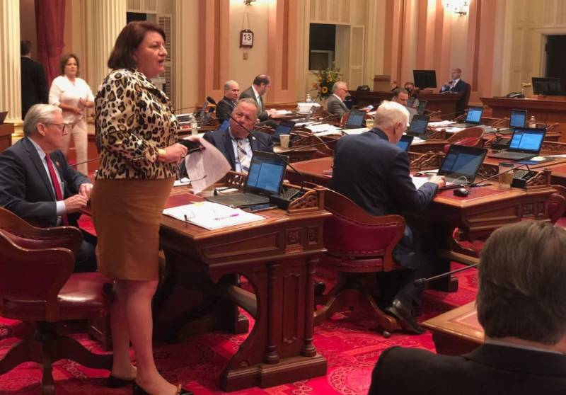 Senate Pro Tem Toni Atkins says she would have liked to use discretionary funds rather than greenhouse gas reduction funds to provide clean water in the Central Valley but called it a compromise.