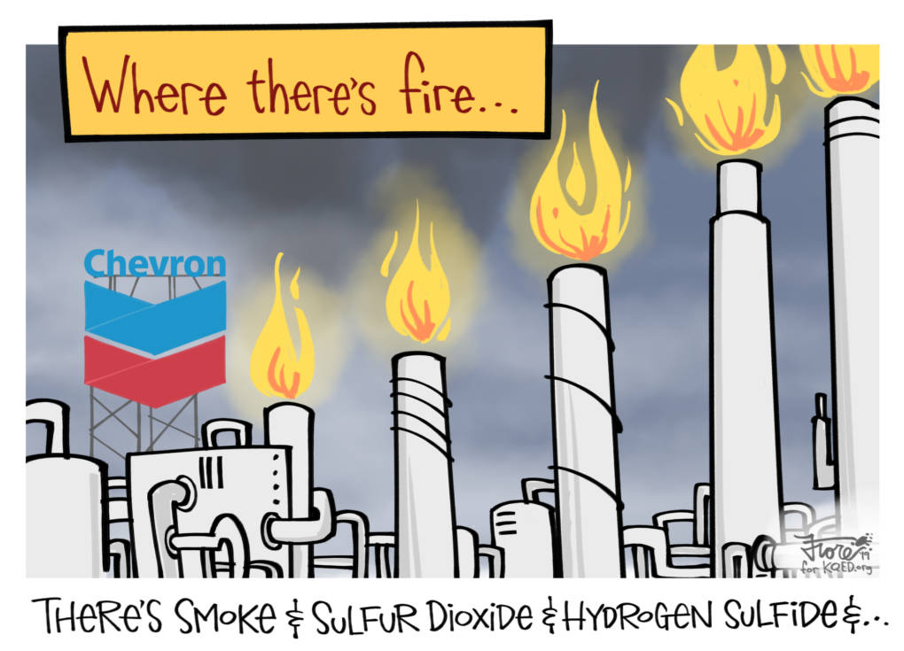 Chevron Refinery Flares Again . . . and Again