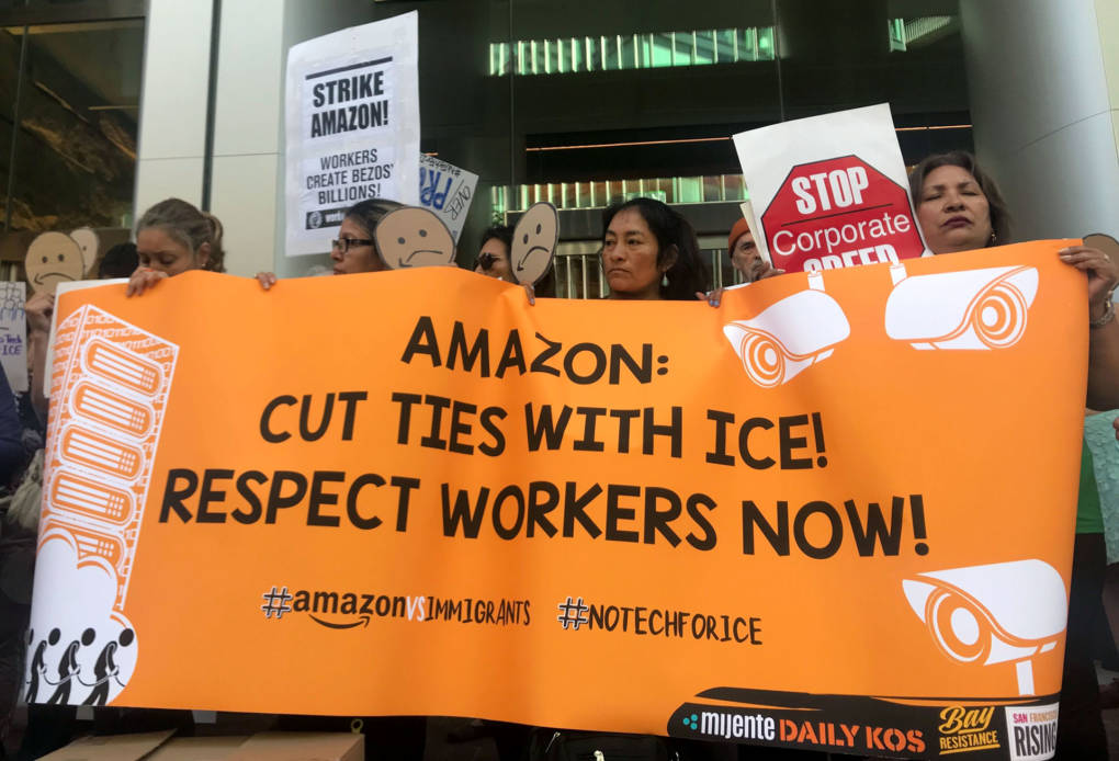 On Prime Day, Activists in San Francisco Demand Amazon Cut Ties With ICE