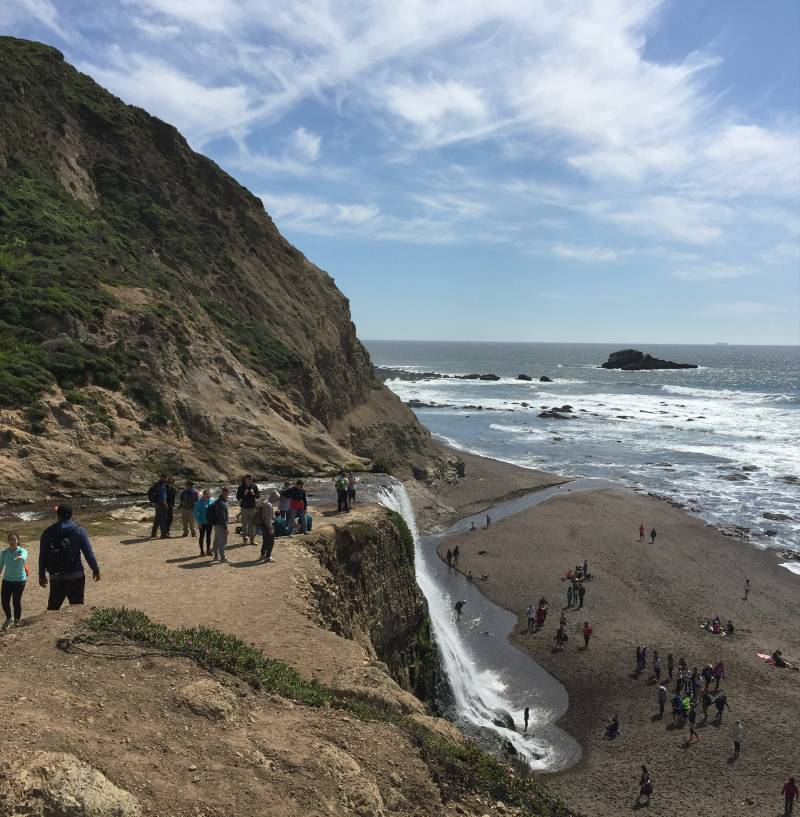 Alamere Falls in Point Reyes National Seashore on April 3, 2016.
