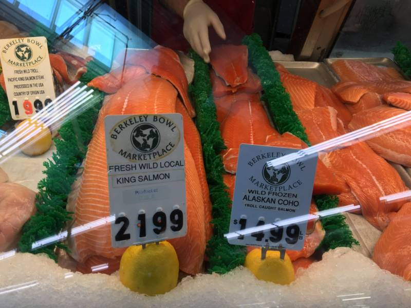 Salmon for sale at Berkeley Bowl on June 22, 2019.