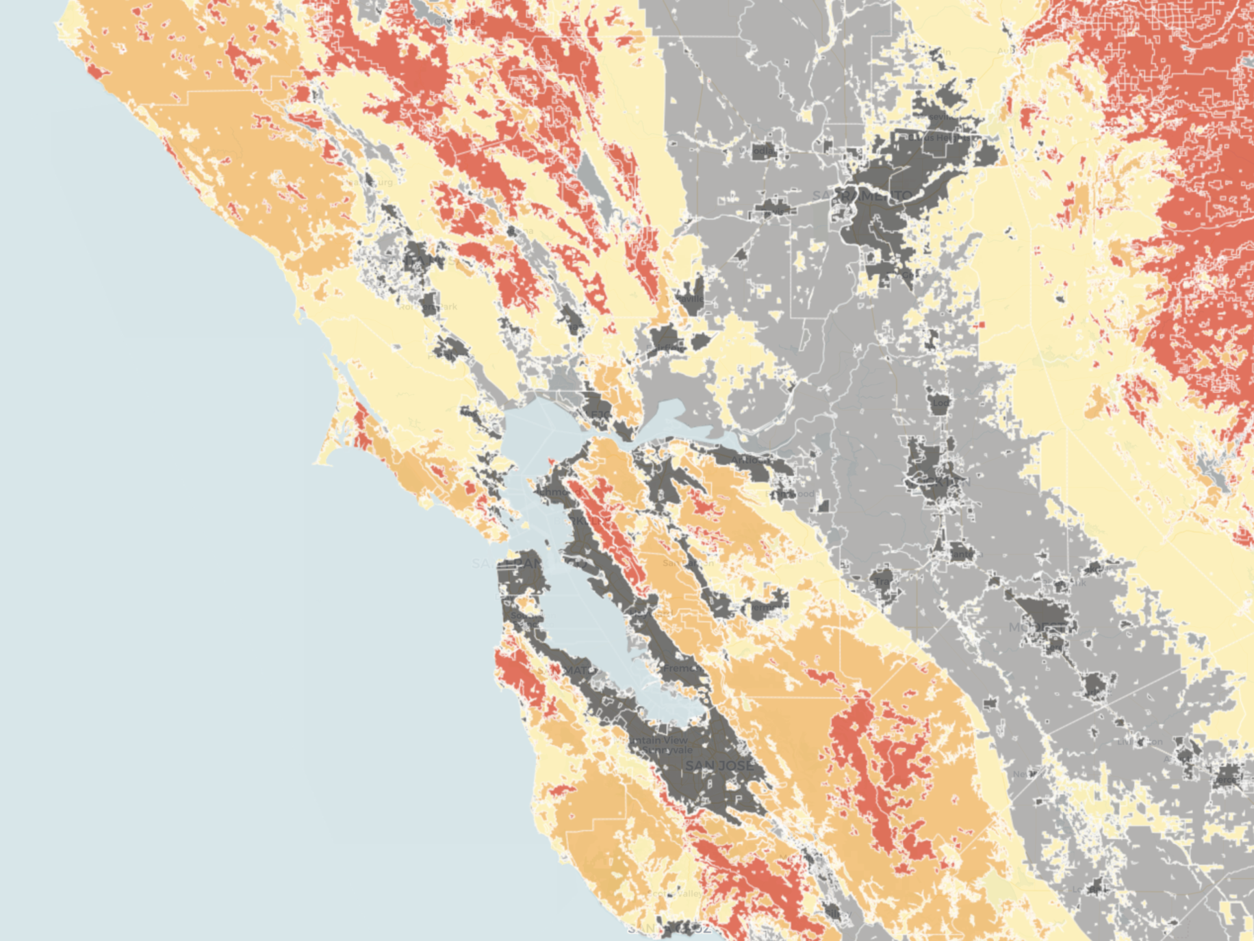 map: do you live in a high-risk fire zone? | the california