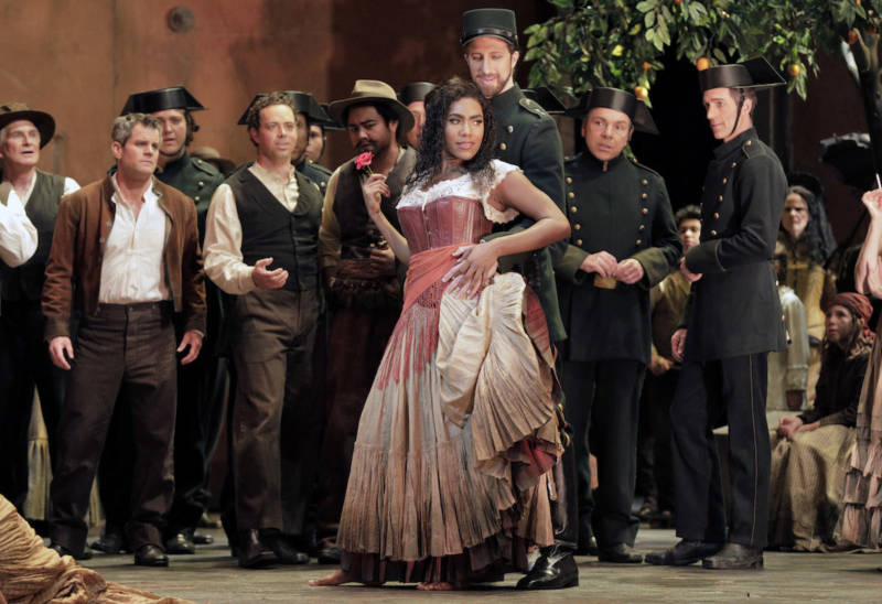 J'Nai Bridges as Carmen at San Francisco Opera.