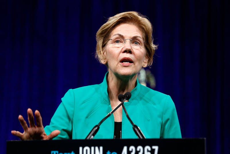 Sen. Elizabeth Warren called for 'attacking corruption head-on' in her remarks to the DNC's summer meeting in San Francisco on Friday.