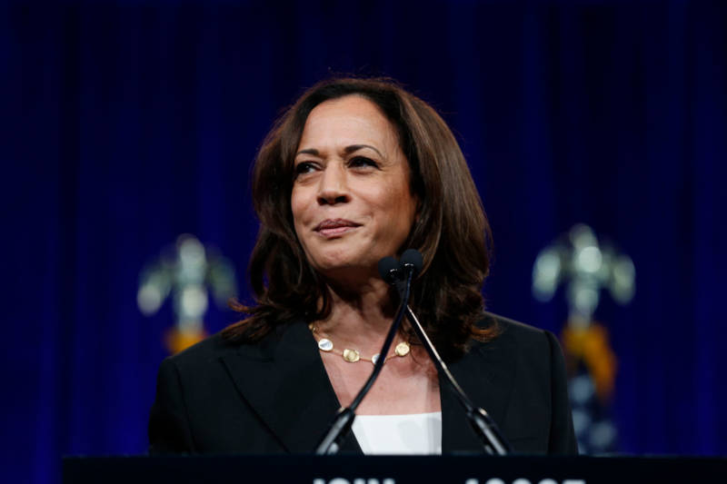 California Sen. Kamala Harris got a hometown reception at the DNC's summer meeting in San Francisco on Friday.