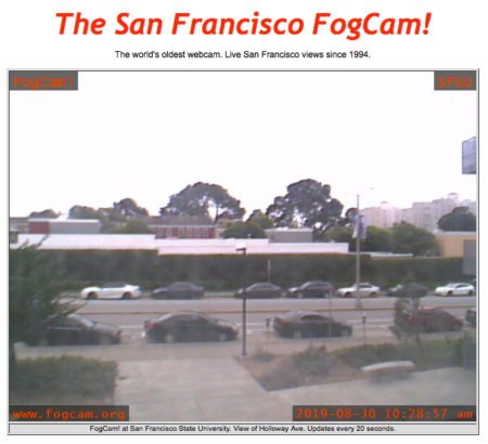 A screenshot from FogCam from Aug. 30, 2019.