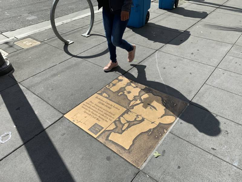 Federico García Lorca's Rainbow Honor Walk plaque on Castro Street in San Francisco is a popular stop and was even a Pokemon Go site at one point.