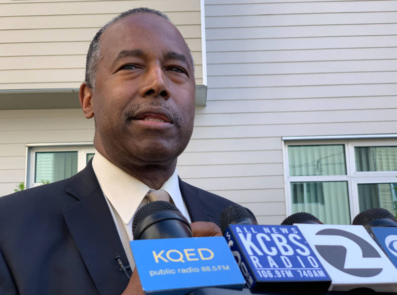 Touring S.F. Housing Project, HUD Chief Says There's No Reason to Have Homelessness