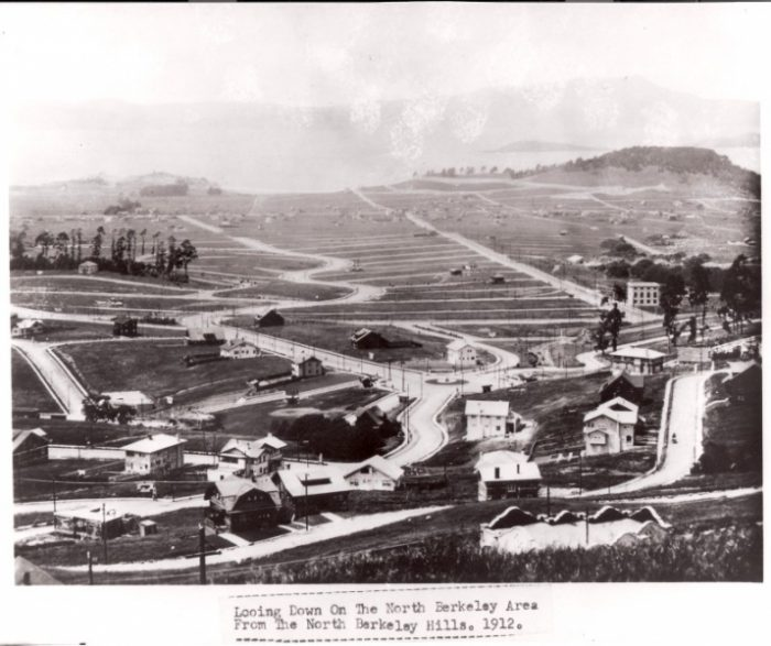 A view of the Berkeley Hills in 1912.