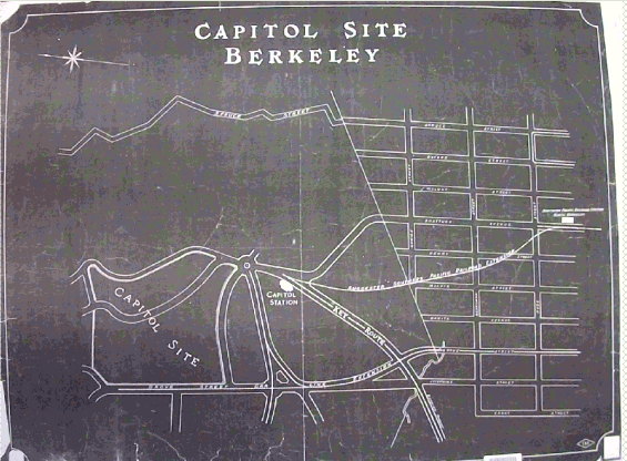 A map of the potential capitol site.