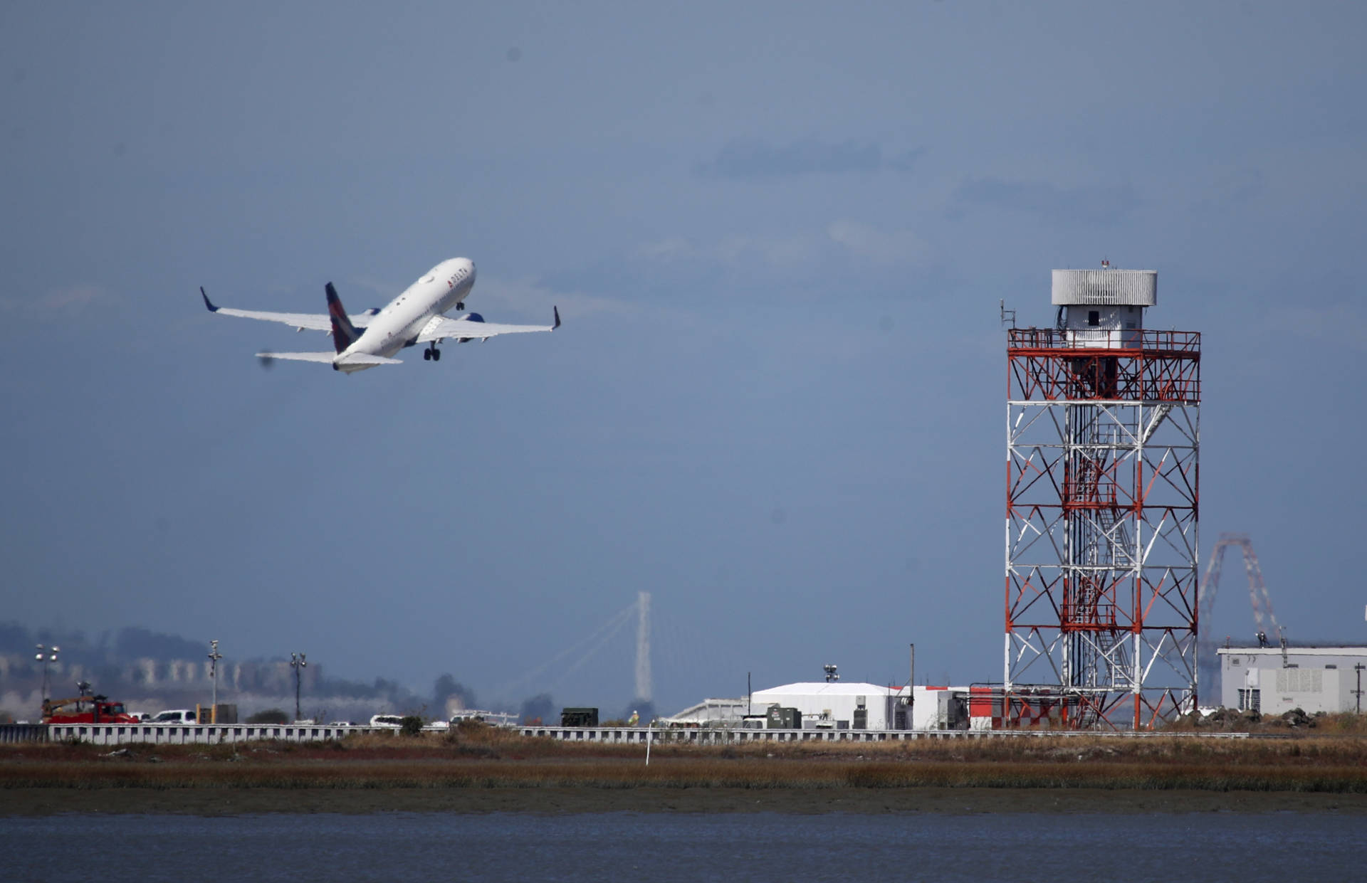 A plane takes off from San Francisco International Airport on Sept. 9, 2019. Justin Sullivan/Getty Images