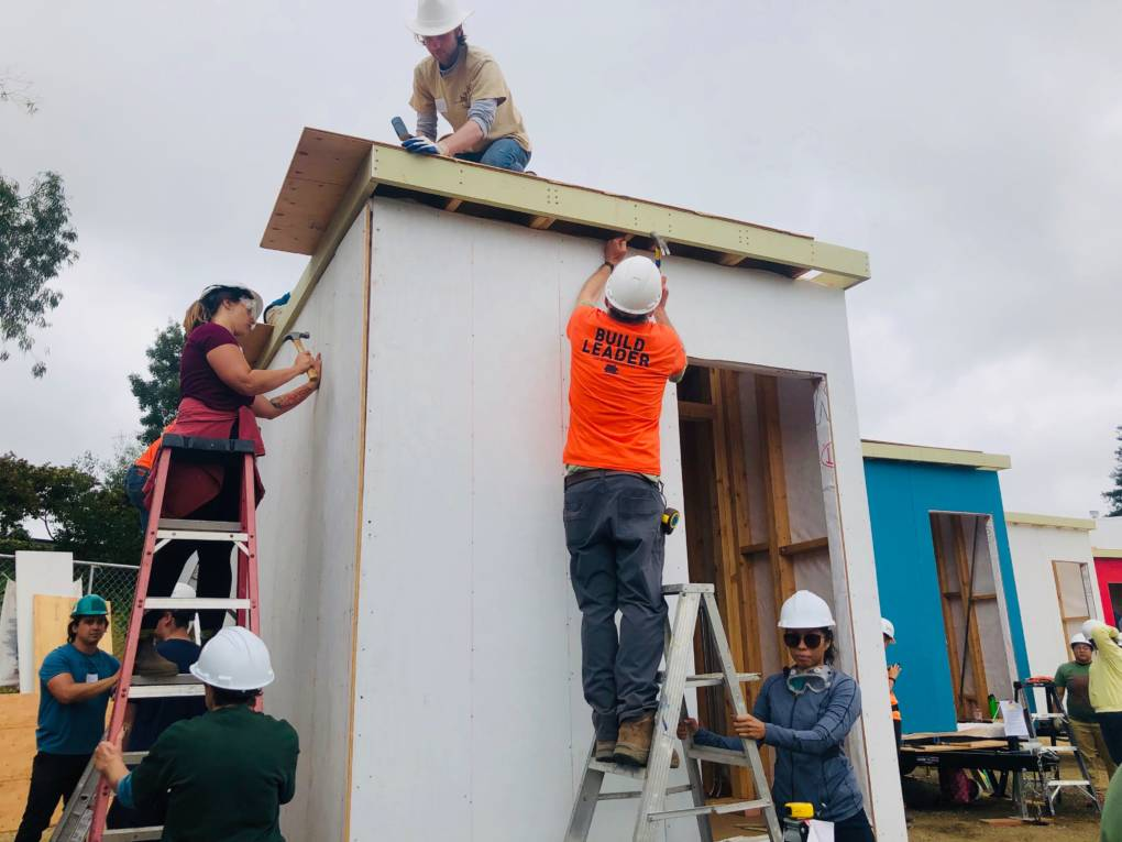 Tiny Home Village for Homeless Youth Takes Shape in East Bay