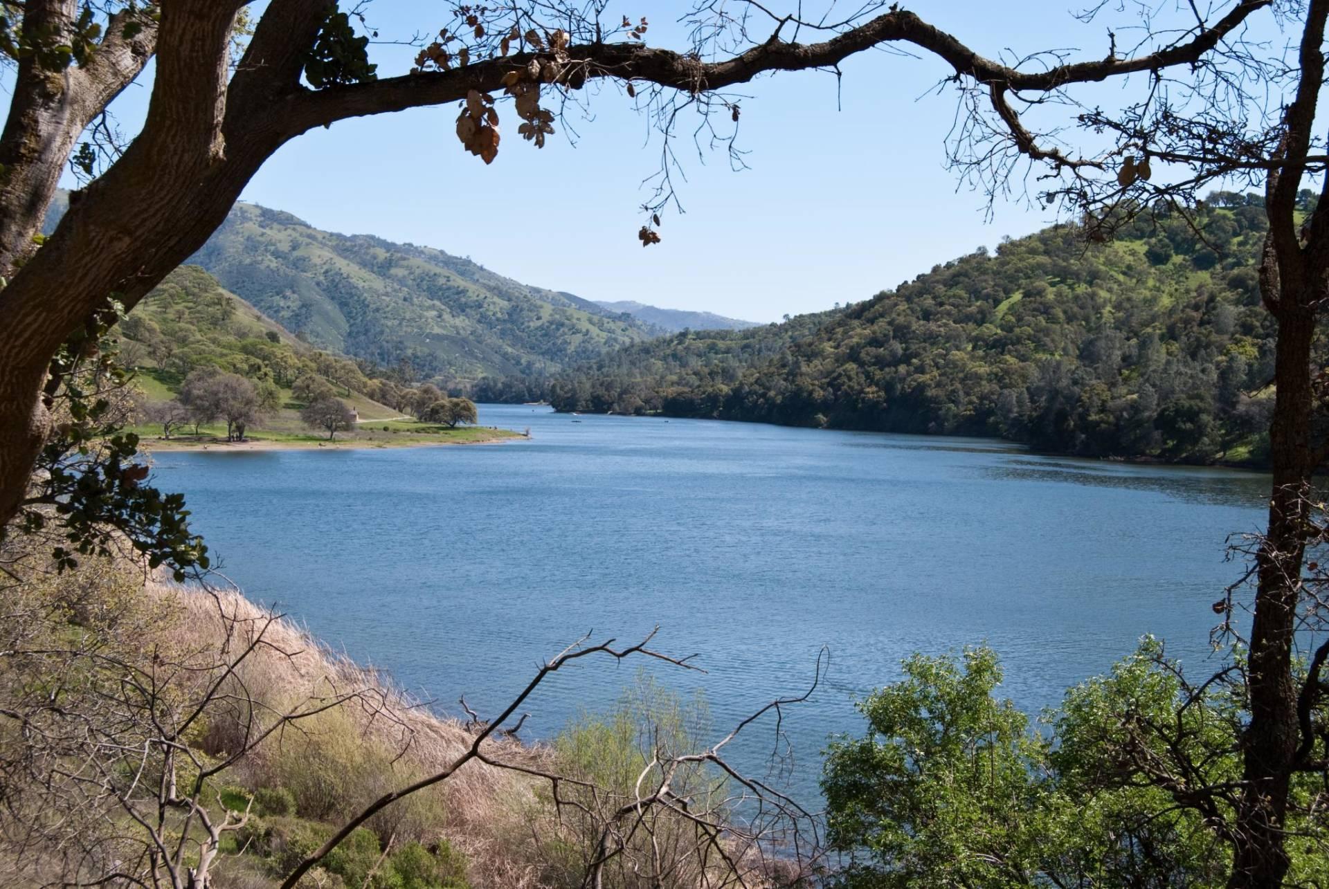 """Lake Del Valle is the only drinking water reservoir in the Bay Area where you can swim. John K/<a href=""""https://www.flickr.com/photos/johnkay/3397909790/in/photolist-6bgbcy-6FWM1n-4KngZX-pP4os4-24Gzc6L-23pdW7k-2RKySG-9XKfu8-6G1RXA-6bc1gK-8HS2s4-8HS2eD-arkLGD-9nmaYf-aroqVA-hynKX-e83YTm-GK2cED-67j8Fb-221nKcC-arormy-GK2h8r-FtgCGJ-24Ljn3p-243acii-8uw8Yv-25p7bLK-HgogtG-9Kwhx2-23FxoCU-23Fxj6C-iRDB9E-egS9i9-33HfrQ-GGK4zL-egS9wm-ruZSgJ-8KRZSe-24Gz9Vy-F7fM36-j1TurZ-bEFLnj-Gu2wK-8KYDyC-saqYms-FYa8x-aq33FS-9WVeq9-amGfiY-ouRJYr"""">Flickr</a>"""