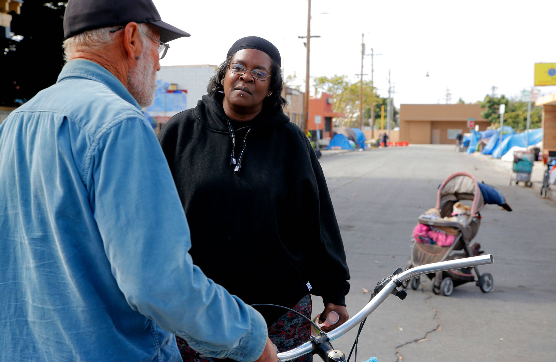 Yolanda Harraway, who used to be homeless in the Chinatown area of Salinas, has found permanent housing and earned her high school diploma. Photo: Chelcey Adami