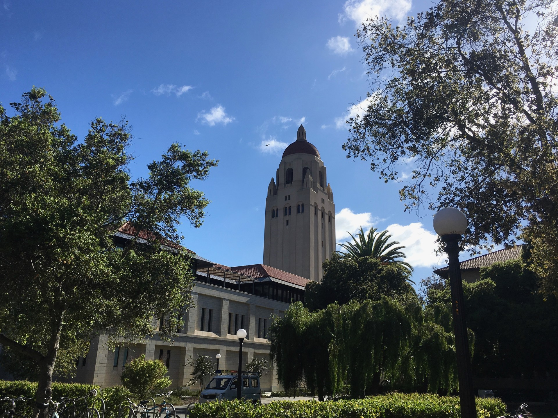 The Hoover Tower on Stanford University campus houses the Hoover Institution Library and Archives, which were founded by Herbert Hoover before he became President of the United States.