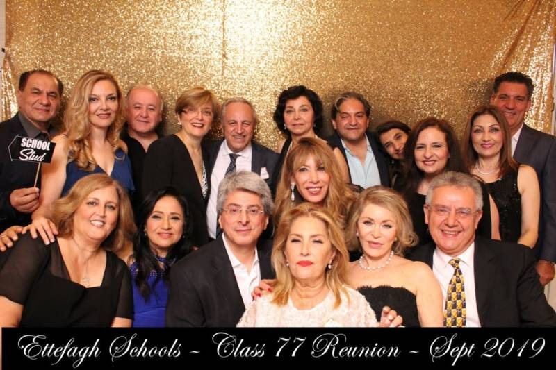 Former Ettefagh School classmates settled around the United States, Canada, and Israel after leaving Iran around the time of the 1979 Islamic Revolution. On Sept. 1, 2019, about 50 alumni came from around the world to attend their first formal high school reunion in 42 years.