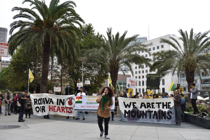 Bay Area Activists Demonstrate Against Turkish Invasion in Syria