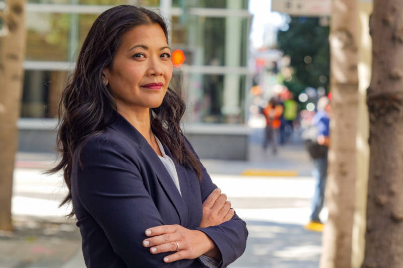 San Francisco District Attorney candidate Nancy Tung in downtown San Francisco.
