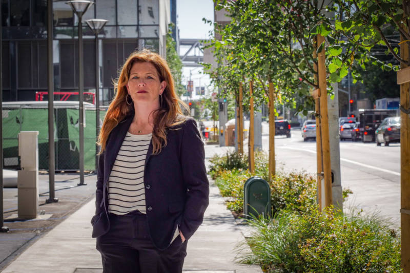 San Francisco District Attorney candidate Suzy Loftus in downtown San Francisco.