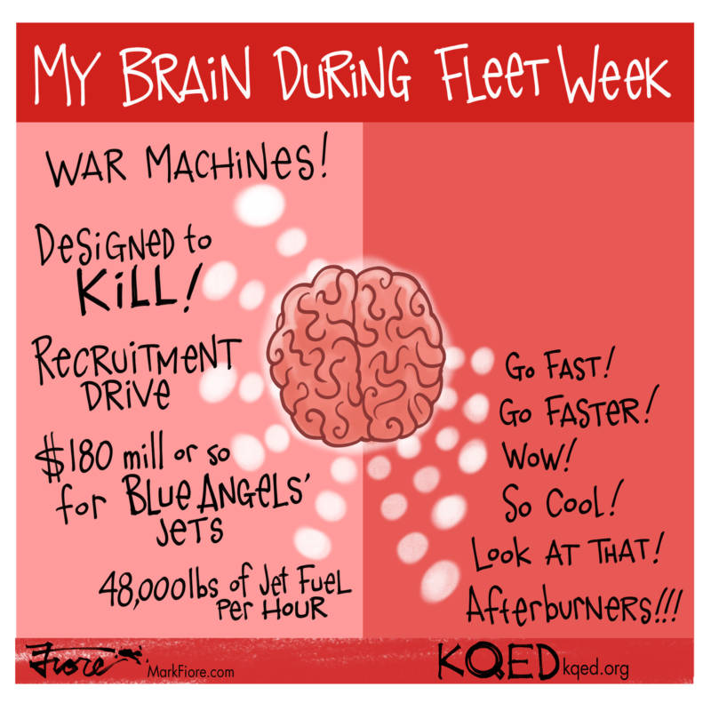 Fleet Week Brain by Mark Fiore