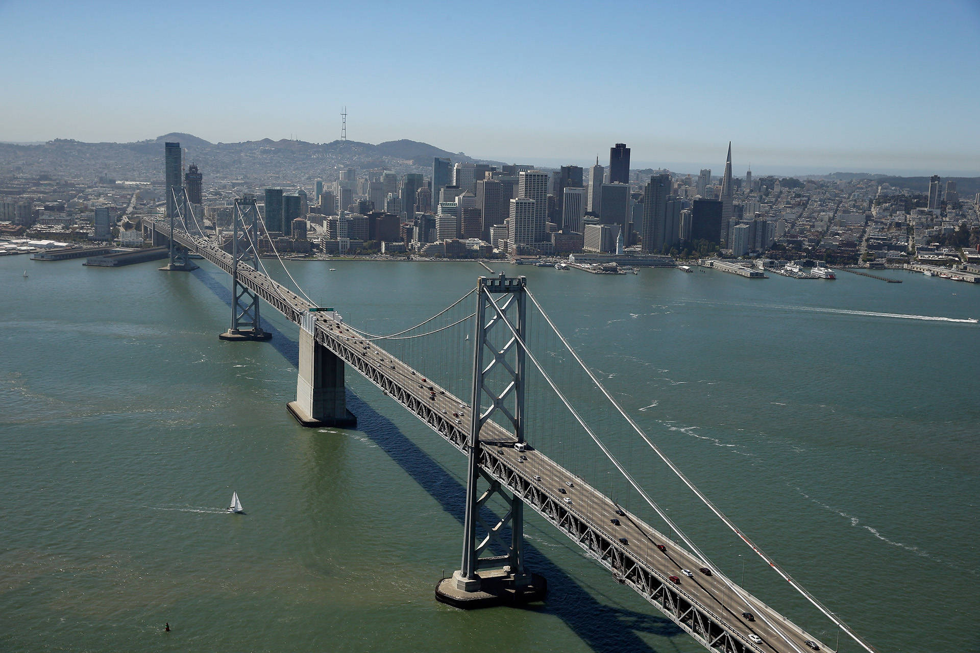 At many times of the day, you might best describe the color of the bay as 'artichoke.'    Ezra Shaw/Getty Images